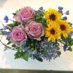 今週の花 ギガンジウム・ゴッフォなどでアレンジメントしました!