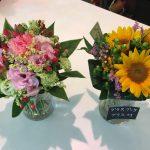 透明なグラスが花束を際立たせる『グラスブーケ』【プレゼントに最適】
