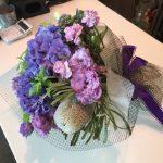 紫色の花束 with店長